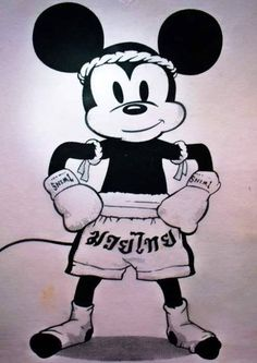 Muay Thai Mickey! So cute