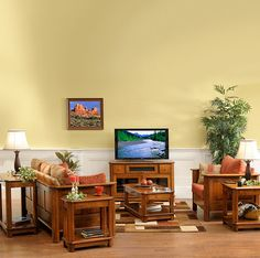 Traditional Amish Made Living room Suite