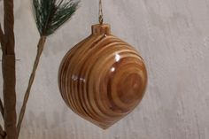 Turned Wood Ornament  34 by LCatDesigns on Etsy, $20.00