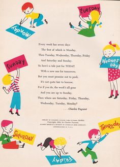 Today is Story Day: A Tale for Every Day in the Week - stories by Terry Shannon & Charles Payzant, illustrated byCharlesPayzant (1954).