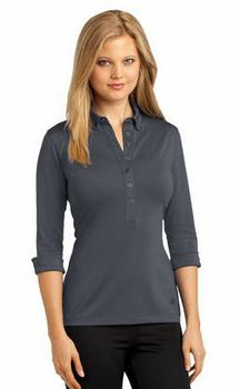 Ladies Cuffed Sleeve Polo - SharperUniforms.com