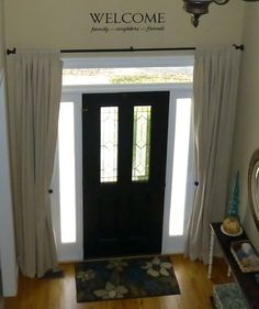 Fresh Curtains for Entry Door Sidelights