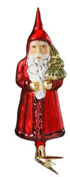 """Vintage Nicholas. Inge-Glas Christmas ornament. 5-3/4"""". Legend Card. Life Touch ornament - extra finely painted. New 2010. Inge-Glas No. 1-036-10. Retired 2013. Hand-blown, hand-painted. With Inge-Glas archival paper and a premium presentation gift box. For Vintage Nicholas shop > www.mygrowingtraditions.com  Santa brings unselfishness and goodwill."""