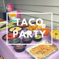 Trying to hold on to a little summer vibe for just a little while longer. Taco Bar, Flour Tortillas, Lettuce, Ground Beef, Catering, Tacos, Birthday Parties, Cheese, Popular