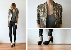 Golden sequins.  BY SIETSKE L., 22 YEAR OLD FASHION COMMUNICATOR FROM THE NETHERLANDS