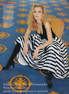 ☆ Karen Mulder | Photography by Mario Testino | For Vogue Magazine Germany | July 1992 ☆ #Karen_Mulder #Mario_Testino #Vogue #1992