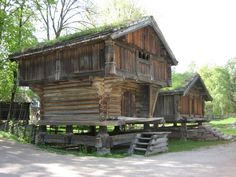 old houses at the Folk Museum