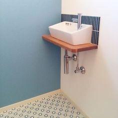 jojomisanさんの、バス/トイレ,タイル,クッションフロア,LIXIL,こどもと暮らす。,タイセイホーム♡,柿渋塗装,リクシルのトイレ,のお部屋写真