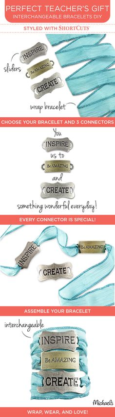Create special, personalized jewelry quick and easy using ShortCuts. The only thing short about them is the time it will take to create stunning bracelets and jewelry. Available at Michaels Stores.
