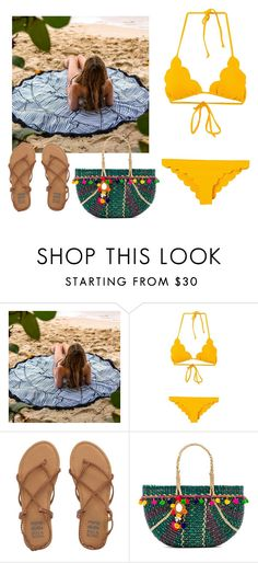 """""""Beach (2)"""" by moonsailor ❤ liked on Polyvore featuring Marysia Swim, Billabong and Pitusa"""