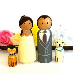 Bride and Groom with Cat and Dog
