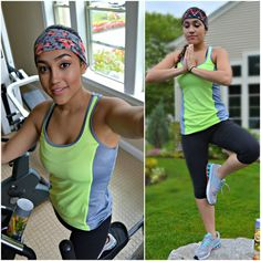 Making workouts with messy hair easy! Colorful Stretch headband workout head wrap by JLeeJewels on Etsy