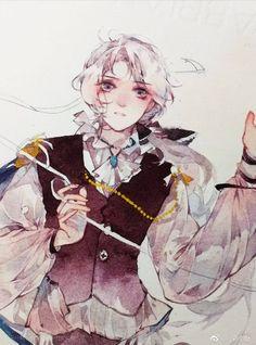 Colorful Drawings, Cute Drawings, Manga Art, Anime Art, Sad Girl Drawing, Watercolor Artwork, Watercolour, Gouache, Water Drawing