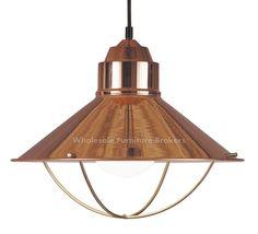 Harbour Copper Single Pendant Light.