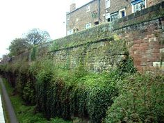 Roman walls, Chester, England - The lower parts survive from the Roman era.