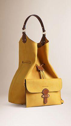 Saffron yellow/tan The Large Ashby in Nubuck - Image 4 Big Bags, Cute Bags, Tote Handbags, Purses And Handbags, Leather Purses, Leather Handbags, Leather Bags Handmade, Goodie Bags, Handbag Accessories