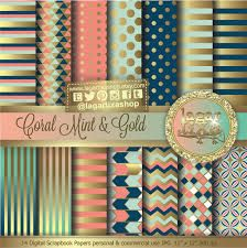 navy, peach, and mint printables - Google Search