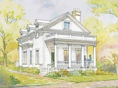 greek revival house | greek revival house plans became extremely popular among prosperous ...