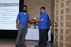 Receiving award from Mr. Gurvinder Singh (CEO and Founder IVP)