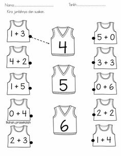 addition worksheets for preschool Preschool Learning Activities, Preschool Math, Kindergarten Worksheets, Teaching Math, Fun Activities, First Grade Math Worksheets, Addition Worksheets, Numbers Preschool, Math For Kids