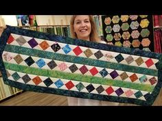 SCRAPS NO MORE!!! Donna's Scrap Buster Table Runner - YouTube