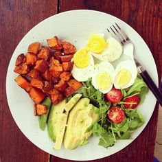 Healthy breakfast example