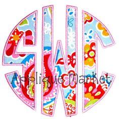 Machine Embroidery Design Applique Circle Alphabet