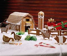 Establish a family tradition by building this gingerbread farmyard.