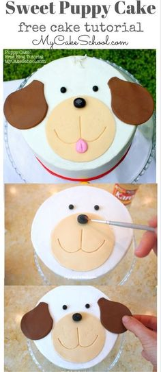 Cake decorating may be a superb interest and is a terrific way to express your imagination. Cake decorating can be a great deal of fun and quite rewarding, even if you believe that you enjoy it well enough it's possible to turn into a Cake Decorating Company, Easy Cake Decorating, Cake Decorating Tutorials, Decorating Ideas, Puppy Birthday Cakes, Dog Birthday, Gateaux Cake, Animal Cakes, Birthday Cakes
