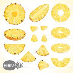 Set of pineapple in various styles vector format royalty-free stock vector art Pineapple Drawing, Pineapple Art, Pineapple Slices, Pineapple Illustration, Illustration Art, Fruit Doodle, Pineapple Wallpaper, Pixel Art Templates, Ideas