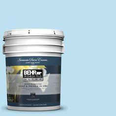 BEHR Premium Plus Ultra 5-gal. #530A-2 Skylark Satin Enamel Interior Paint