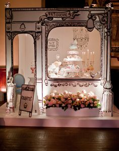Patisserie stall at a wedding