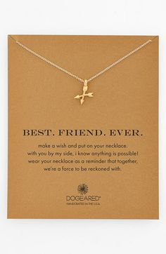 Free shipping and returns on Dogeared 'Best. Friend. Ever.' Boxed Pendant Necklace at Nordstrom.com. Let your BFF know what she means to you with this delicately handcrafted necklace with a pair of teeny, united arrows at the center.