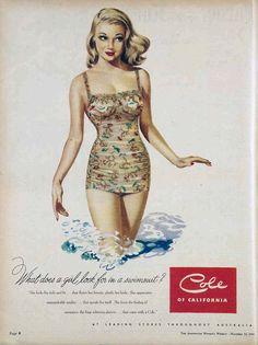 1949 swimsuit Cole of California