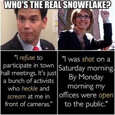 Right: Democrat. Left: Republican