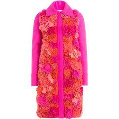 Victoria, Victoria Beckham Appliquéd Flower Coat