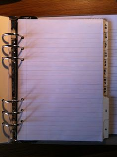 My Life All in One Place: Filofax A5 lined paper - a better and cheaper alternative