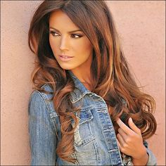 Chocolate Caramel Hair Color Ideas