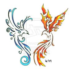 Google Image Result for http://fc02.deviantart.net/fs46/i/2009/236/2/a/Firebird_and_Icebird_by_Finaira.jpg
