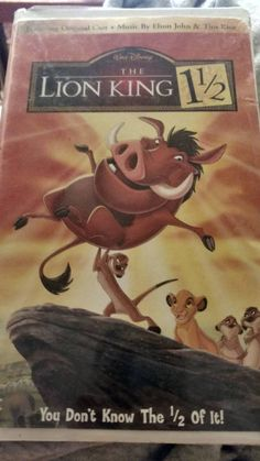 Walt Disney's 'Lion King 1 and 1/2' VHS tape in