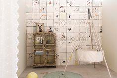 Nostalgische kinder tegels fotobehang OZ 3748 babykamer Onszelf