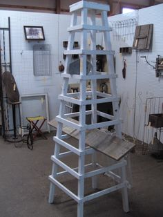 could be a fun linen or oilcloth display tower...hmmmmm