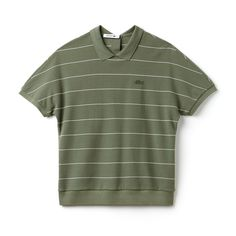 94d3a9e3b6cf8 Minimalist, sports-inspired stripes for this polo crafted in cotton  honeycomb. A modern