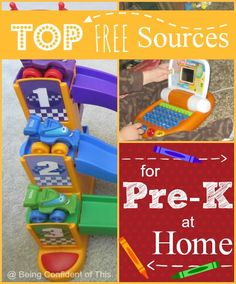 Top FREE Resources for Pre-K at home #homeschool