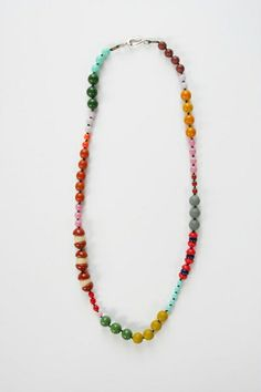 I. Ronni Kappos Rainbow Multi Disk & Black Bead Necklaces