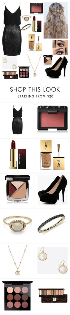 """""""Untitled #1437"""" by floridaflower11 ❤ liked on Polyvore featuring TFNC, NARS Cosmetics, Yves Saint Laurent, Chanel, Boohoo, Blue Nile, Hirotaka, MAC Cosmetics and Etude House"""
