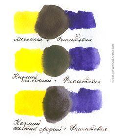 Уроки акварели: базовые упражнения. Основы цветоведения, цветовой круг.