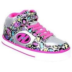 #Heelys x2 cruz roller shoes - heel skates w low #profile - silver/pink #cheetah,  View more on the LINK: 	http://www.zeppy.io/product/gb/2/331886937562/