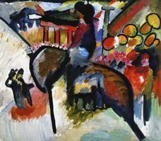 Impression IV Gendarme (1911) Vassily Kandinsky.