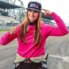 Larua, a fast race girl, wears the cap and loves it. Race Day, Strong Women, Girl Power, Sisters, Racing, Cap, Boys, How To Wear, Fashion